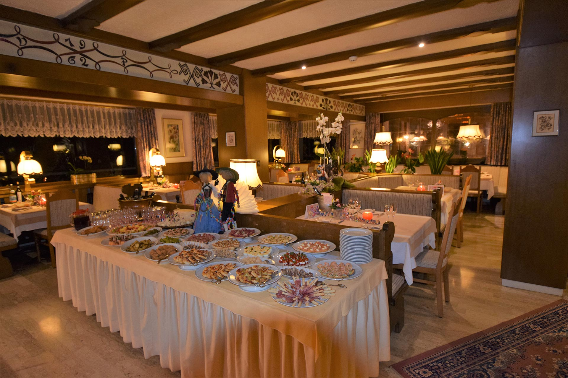Sala da pranzo - Hotel Centrale Colfosco Alta Badia